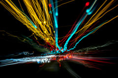 15 Minute Long Exposure Pinhole City Royalty Free Stock Photography