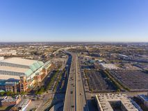 Interstate Highway 69 aerial view, Houston, Texas, USA stock images