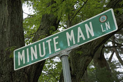 Minute Man Lane Stock Images