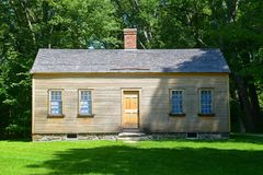 Minute Man National Historical Park, Concord, MA, USA. Historic Building in Minute Man National Historical Park, Concord, Massachusetts, USA stock image