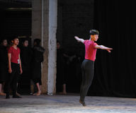 A minute on the stage takes ten-year practice-The national dance training Stock Image