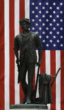 Minuteman and US Flag Stock Photos