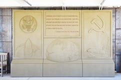 Minutemanu pociska Historycznego miejsca Krajowa plakieta Zdjęcia Stock