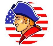 Minutemen americani illustrazione vettoriale