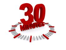 30 minuten Royalty-vrije Stock Fotografie