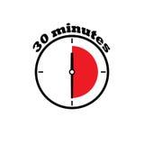 30 minuten wijzerplaat stock afbeeldingen