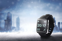 20:17minutenzeit auf smartwatch werden 2017 Lizenzfreies Stockfoto
