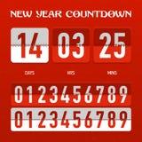 Minuterie de compte à rebours de nouvelle année ou de Noël Images libres de droits