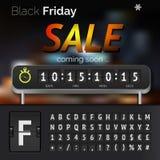 Minuterie de compte à rebours de vente de Black Friday Illustration Stock