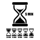 Minuterie en verre de sable de vecteur Image stock