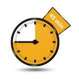 Minuterie 45 minutes - illustration de vecteur - d'isolement sur le blanc illustration stock