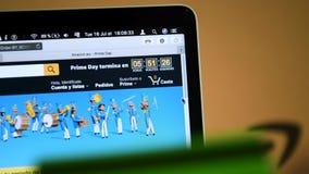 Minuterie principale de compte à rebours de jour d'Amazone Espagne banque de vidéos