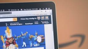 Minuterie principale de compte à rebours de jour d'Amazone Pays-Bas banque de vidéos