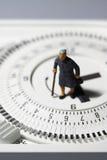 Minuterie supérieure D de thermostat de dame Image libre de droits