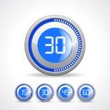 Minuteries 15 minute 30 45 60 Images libres de droits