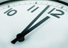 Minutes à douze heures Image libre de droits