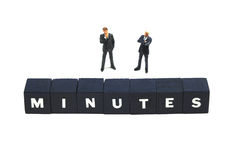 Minutes. Who is in charge of the minutes this meeting Royalty Free Stock Photos