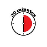 30 minutes clock dial Stock Images