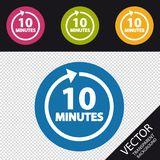 10 Minutes Icon - Colorful Vector Illustration - Isolated On Transparent Background. 10 Minutes Icon - Colorful Vector Illustration  - Isolated On Transparent Royalty Free Stock Image