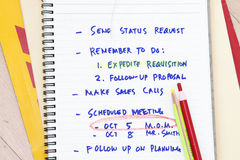 Minutes of meeting. Notes concept- many uses in the manufacture industry Royalty Free Stock Images