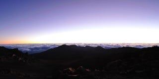 Minutes before sunrise at Haleakala Crater on Maui Royalty Free Stock Photography