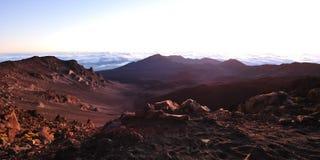 Minutes before sunrise at Haleakala Crater on Maui Stock Photography