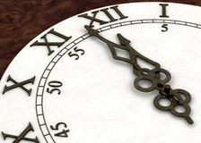 Minutes to midnight. 3D render of a clock face showing minutes to midnight royalty free illustration