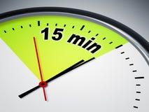 minuto 15 ilustración del vector