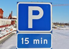 Minuto 15 de estacionamento fotos de stock