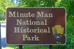 Minutowego mężczyzna Krajowy Dziejowy park, zgoda, MA, usa Zdjęcie Royalty Free