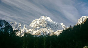 The minya konka(gongga) Mountain. Chinas sichuan province HaiLuoGou minya konka(gongga) Mountain Royalty Free Stock Image