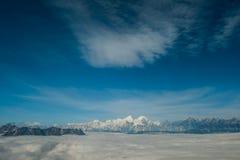 Minya Konka, il più alta montagna in Sichuan, Cina Fotografie Stock