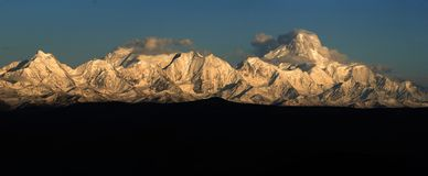 Minya Konka mountains Royalty Free Stock Photo