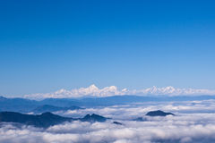 Minya Konka and sea of clouds Royalty Free Stock Photography