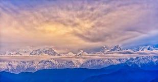 Minya Konka snow mountain Stock Photography