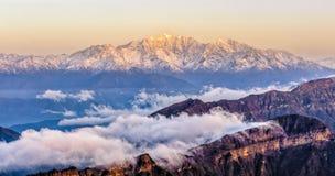 Minya Konka snow mountain Royalty Free Stock Photos