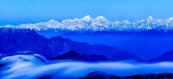 Minya Konka snow mountain Royalty Free Stock Image