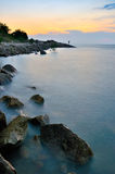 Minyak Beku strand Arkivbild