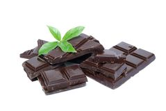 Minze und Schokolade Lizenzfreies Stockfoto