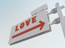 Miłość drogowy znak Fotografia Stock