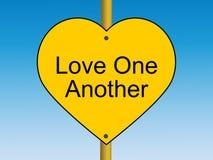 Miłość jeden Inny drogowy znak Obraz Stock