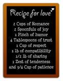 Miłość przepis Fotografia Stock