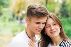 Miłość przy parkiem Zdjęcie Royalty Free
