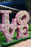 Miłość robić z kwiatu Obrazy Royalty Free