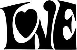 Miłość sztandar Zdjęcia Royalty Free
