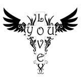miłość tatuaż ty Obrazy Royalty Free