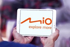 Mio Technology-bedrijfembleem stock afbeelding