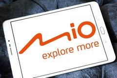 Mio Technology företagslogo royaltyfria bilder