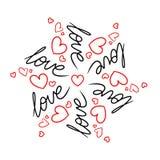 Miłość wzór Obrazy Stock