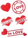 miłość znaczek Fotografia Royalty Free